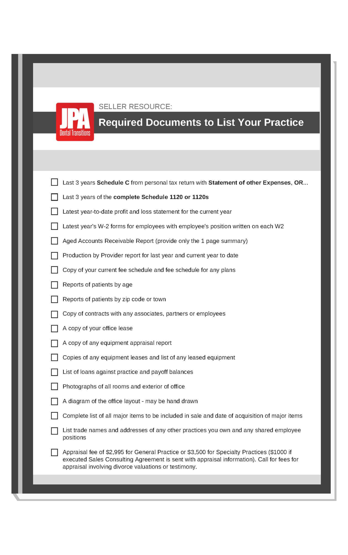 Required Docs Checklist