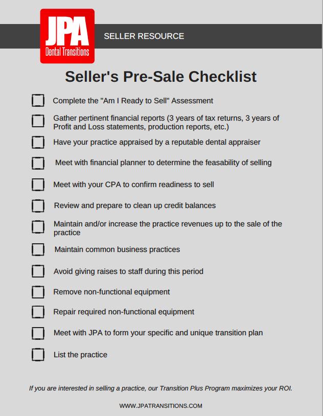 Pre Sale Checklist