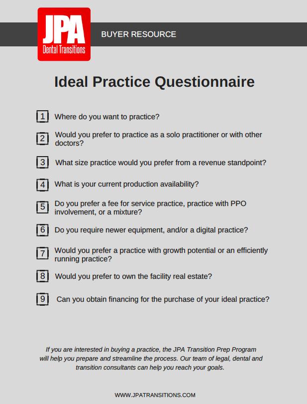 Ideal Practice Questionnaire